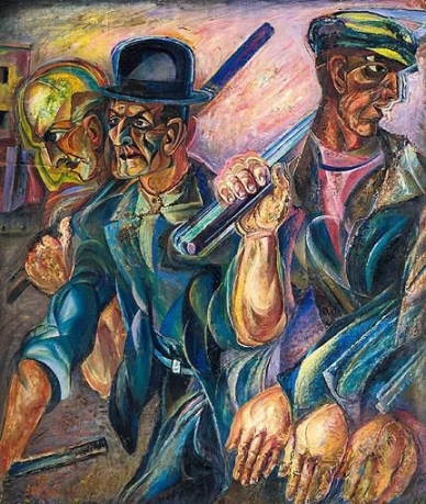 David Burliuk - American workers