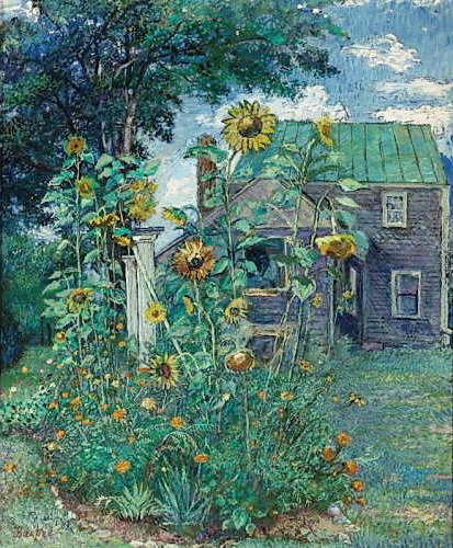 David Burliuk - Artist's house in Hampton Bays