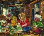 David Burliuk - At the Table