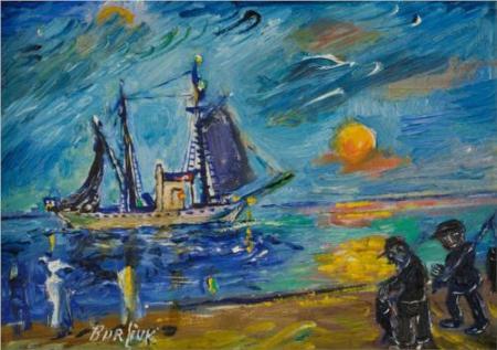 David Burliuk - Fishermen