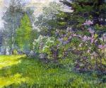 David Burliuk - Lilac in the park