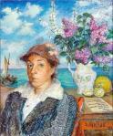 David Burliuk - Marusia by the sea