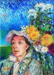 David Burliuk - Marusia with flowers