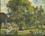 David Burliuk - Marussia in the Garden