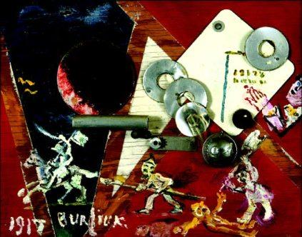 David Burliuk - Revolution, 1917