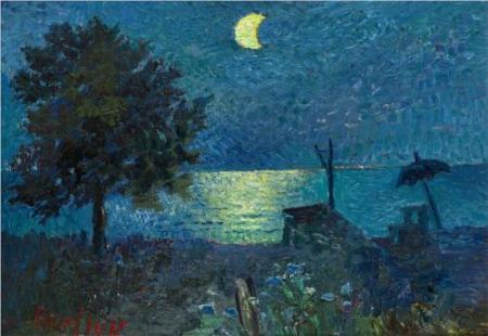 David Burliuk - Sea at Night
