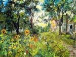 David Burliuk - Sunflowers