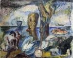 David Burliuk - Surrealistic landscape