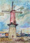 David Burliuk - Windmill in Rotterdam