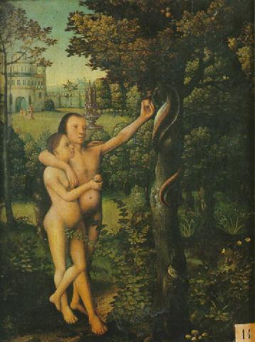 Frans Pourbus the Elder - Adam et Eve au Paradis Terestre