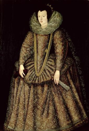 John de Critz - Portrait of a Lady in Elizabethan Dress