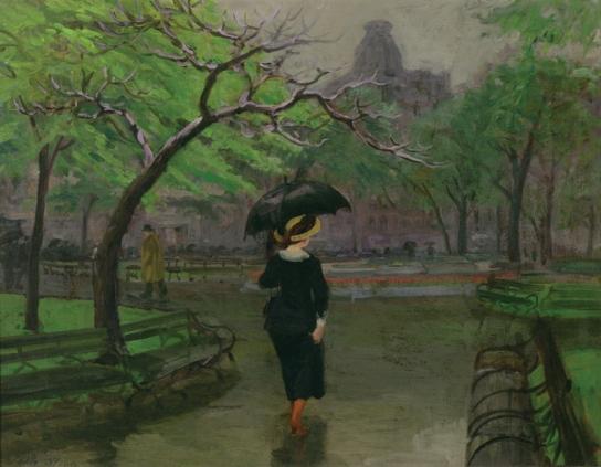 John Sloan - Spring Rain