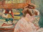 Louis Valtat - Femme au chat et aux livres, 1905