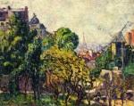 Louis Valtat - View of Moulin de la Galette and the Eiffel Tower