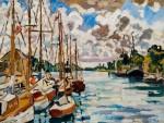 Louis Valtat - Voilieres au Port à Ouistreham, c. 1930