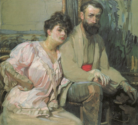 František Kupka - Self Portrait with Wife, 1908