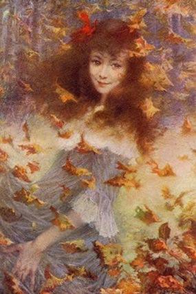 Lucien Levy-Dhurmer - Vent d'Automme - Portrait de Mlle Suzanne S.