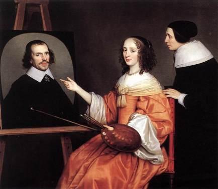 Gerrit van Honthorst - Margareta Maria de Roodere and Her Parents