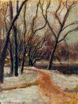 Jean Alexandru Steriadi - Peisaj cu sălcii la marginea lacului