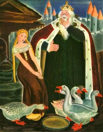 Gustaf Tenggren - Die Gänsemagd