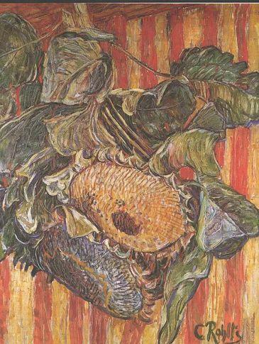 Christian Rohlfs - Sonnenblumen