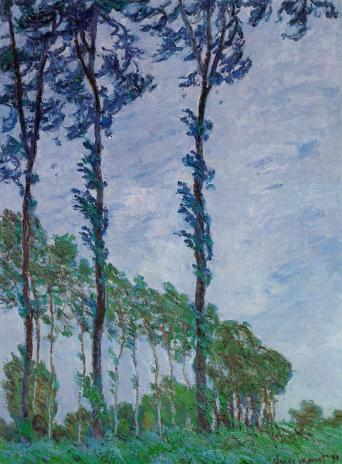 Claude Monet - Poplars, Wind Effect