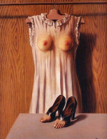 René Magritte - Philosophy in the Boudoir-1947