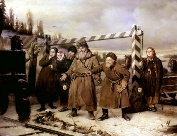 Vasily Perov - At the Railroad