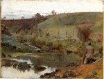 Tom Roberts - A quiet day on Darebin Creek[Merri Creek]