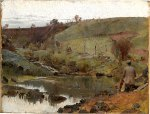 Tom Roberts - A quiet day on Darebin Creek[Merri Creek]