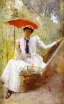 Tom Roberts - Lady with a Parasol