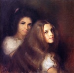 Tom Roberts - Portrait of Elizabeth and Carmen Pinschof