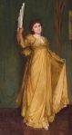 Tom Roberts - Practising the Minuet. Portrait of Hilda Spong (1875-1955), English actress