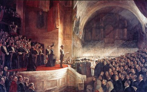 Tom Roberts - The Big Picture, the opening of the Parliament of Australia on 9 May 1901, Melbourne, Australia.