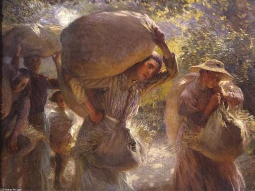 Sir George Clausen - Gleaners Coming Home