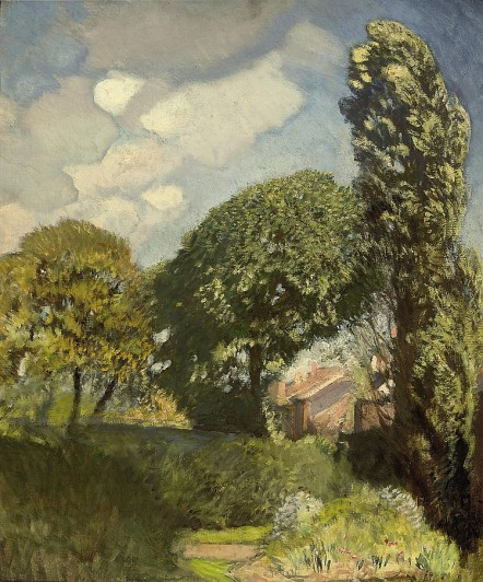 Sir George Clausen - At the edge of the farm
