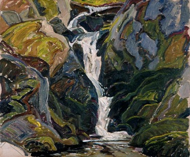 Frank Carmichael - Waterfalls on the Way into Nellie Lake