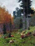 Isaac Levitan - In the woods in autumn
