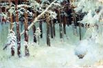 Isaac Levitan - The forest in winter. 1880