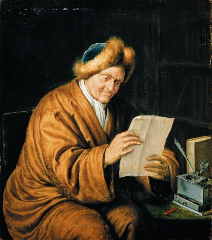 Willem van Mieris - An Old Man Reading