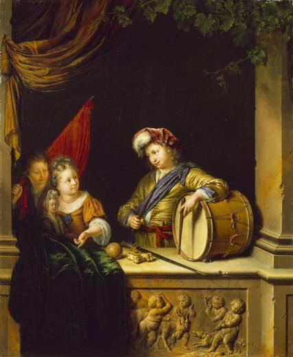 Willem van Mieris - Children's games