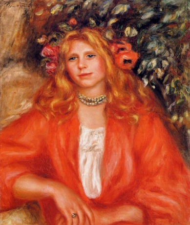 Pierre-Auguste Renoir - Young Woman Wearing a Garland of Flowers
