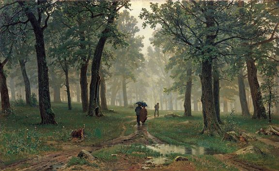 Ivan Shishkin – Rain in an oak forest