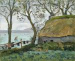 Maxime Maufra - A cottage with thatched roof in Douarnenez.