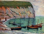 Maxime Maufra - Fishing Boats on the Shore