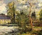 Maxime Maufra - The Ponce Paper Factory on the Edge of the Sathe Woods.