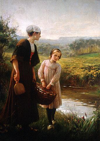 Albert Lynch - Washerwomen in Brittany
