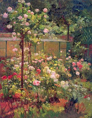 Robert Vonnoh - Jardin en Fleurs
