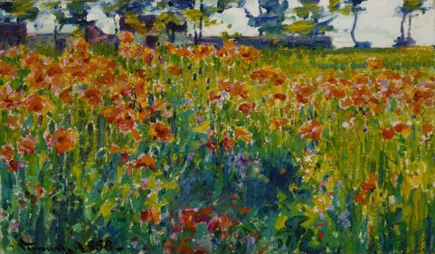 Robert Vonnoh - Poppies in France, 1888