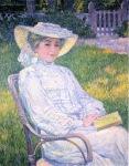 Theo van Rysselberghe - Lady in White, Portrait of Mrs. Théo Van Rysselberghe